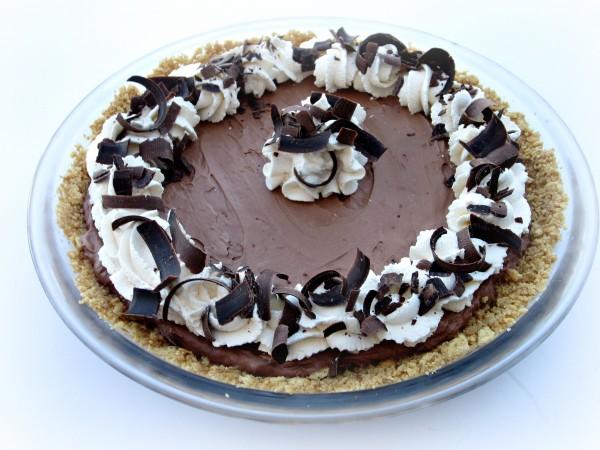 Chocolate Silk Pie with Graham Cracker Crust