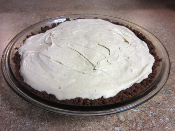 Pumpkin Pie Ice Cream Pie with a Gingersnap Crust