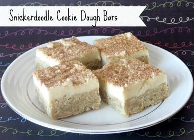Snickerdoodle Cookie Dough Bars