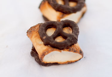 Chocolate Covered Pretzel Smores