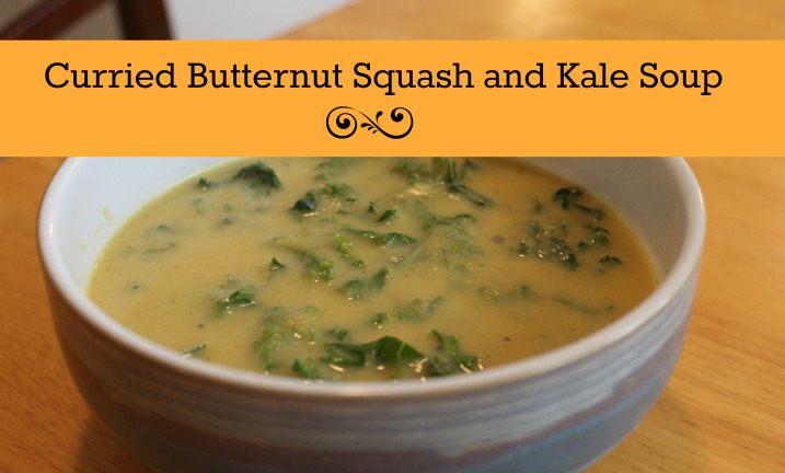 Curried Butternut Squash and Kale Soup