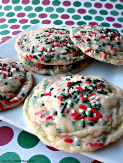 Funfetti Christmas Cookies