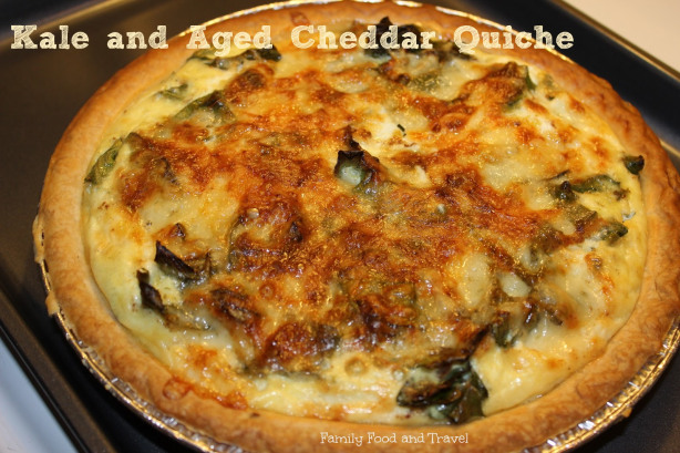 Kale and Aged Cheddar Quiche