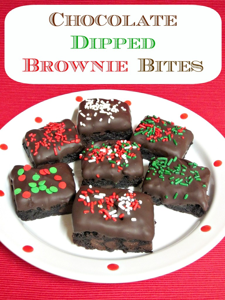Chocolate Dipped Brownie Bites