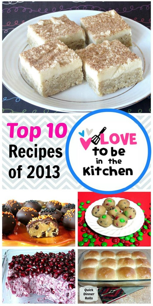 Top 10 Recipes on Love to be in the Kitchen