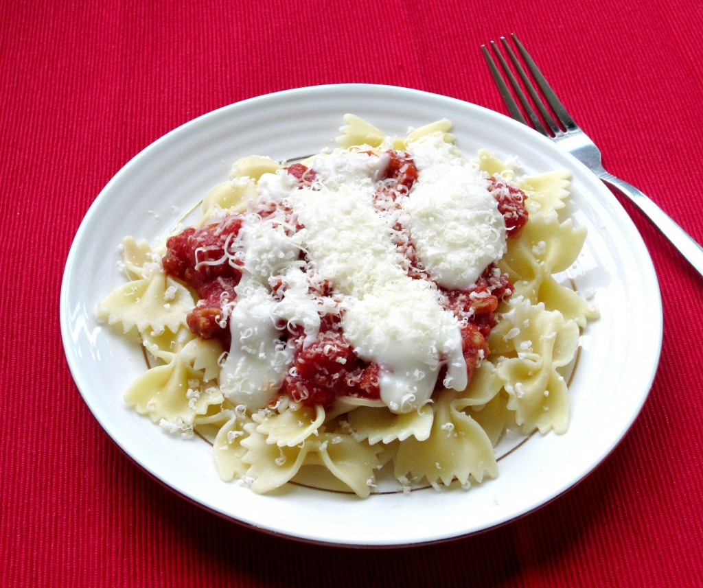 Red and White Pasta