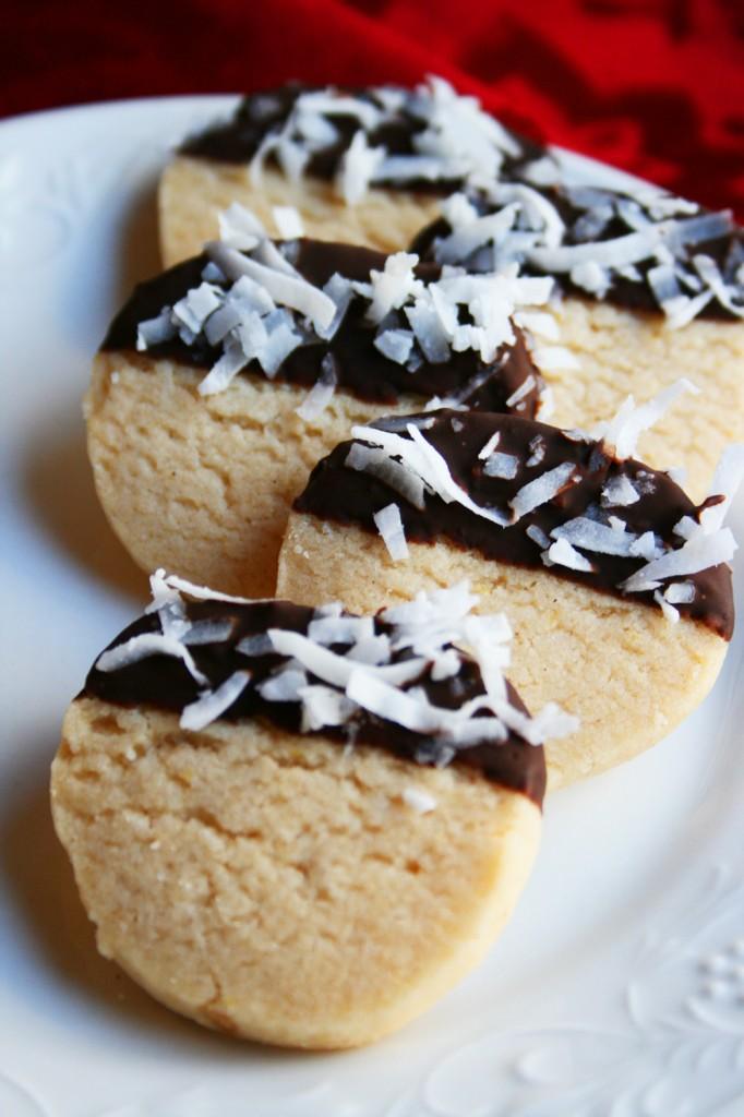Chocolate Dipped Lemon Shortbread