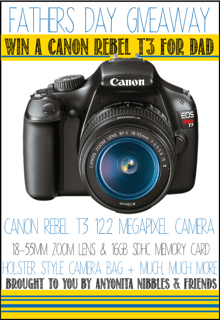 Fathers Day Giveaway! Win a Canon Rebel T3 for dad! #giveaway