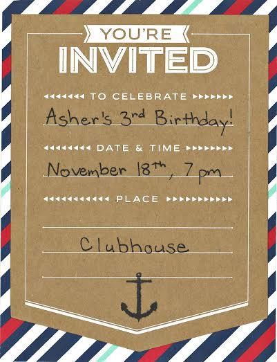 Asher's Invite