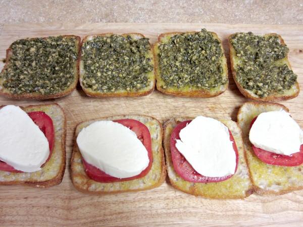 Pesto, Tomato & Mozzarella Sandwich