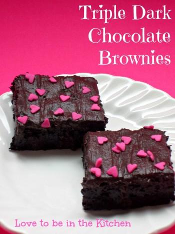 Triple Dark Chocolate Frosted Brownies