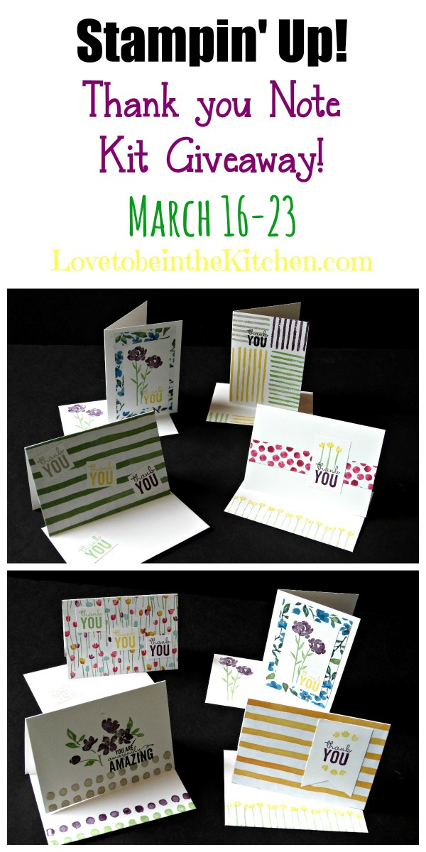 Stampin' Up! Thank you Note Kit Giveaway! March 16-23