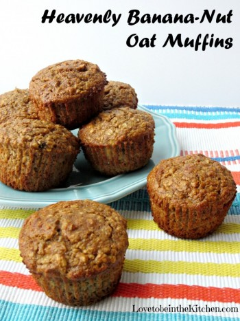 Heavenly Banana-Nut Oat Muffins