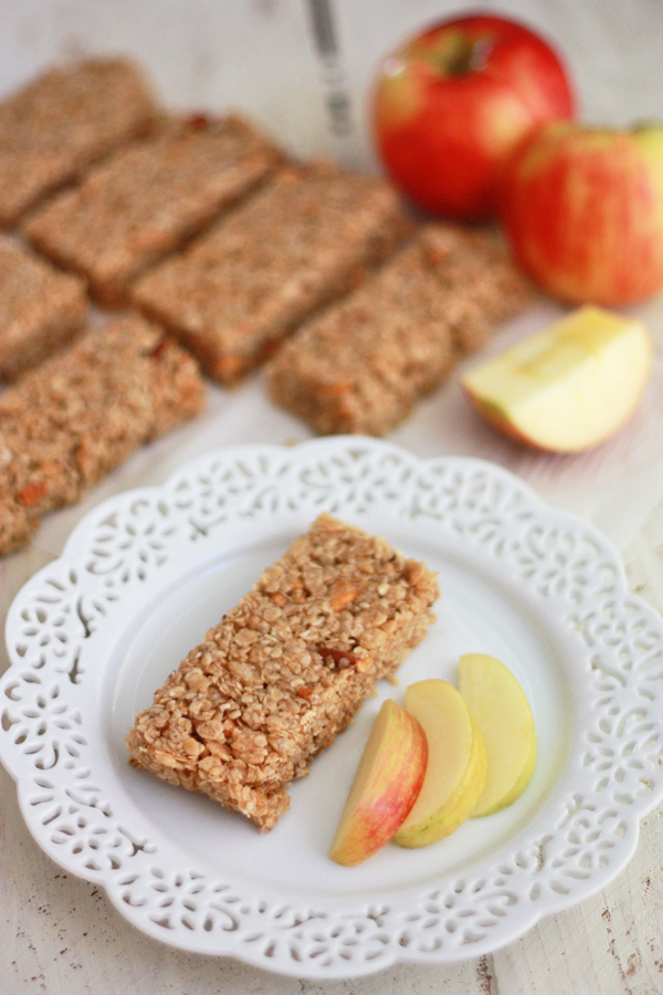 Apple Cinnamon Granola Bars (gluten free, vegan)