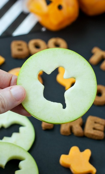 Spooky Apple Slices
