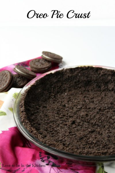 Oreo Pie Crust Recipe