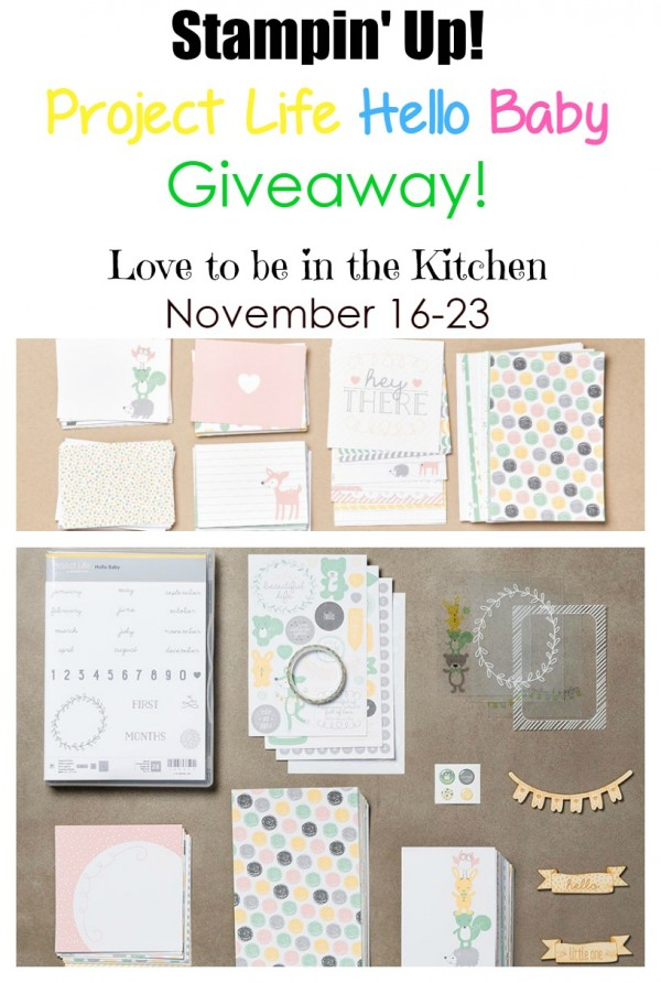 Stampin' Up! Project Life Hello Baby Giveaway! #giveaway