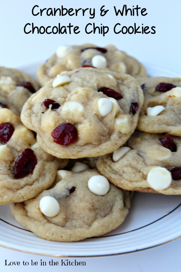 Cranberry and White Chocolate Chip Cookies