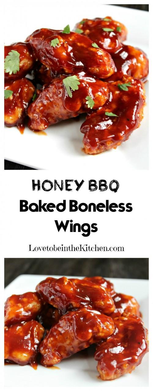 Honey BBQ Baked Boneless Wings