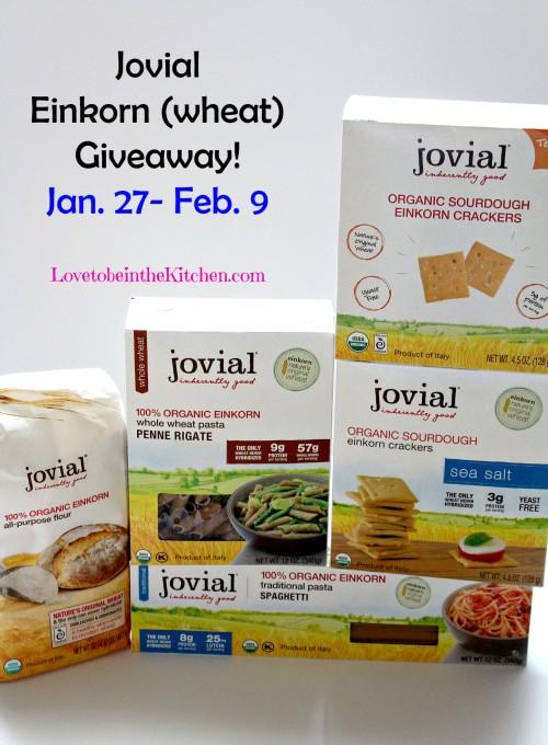 Jovial Einkorn (wheat) Giveaway lovetobeinthekitchen.com