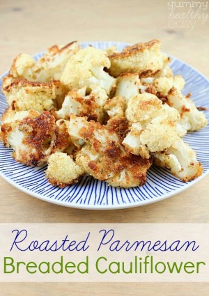 Roasted Breaded Parmesan Cauliflower