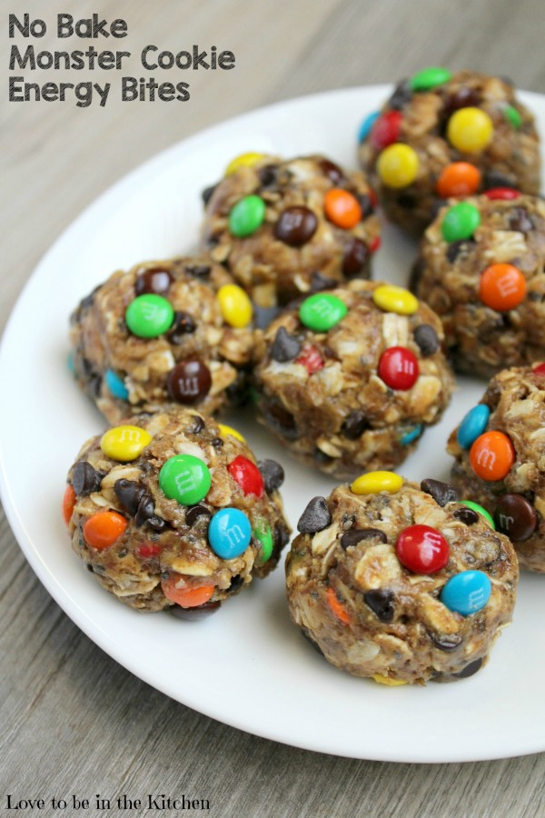 No Bake Monster Cookie Energy Bites