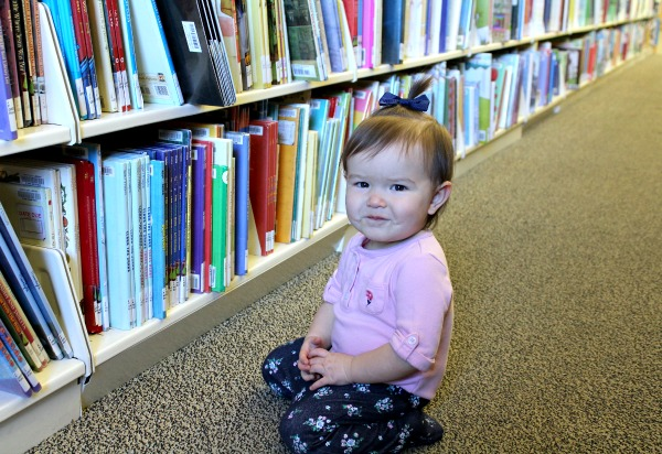 baby at the library