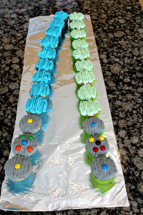 Light Saber Cupcakes