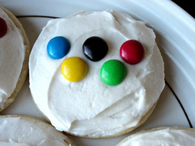 Olympic Ring Sugar Cookies