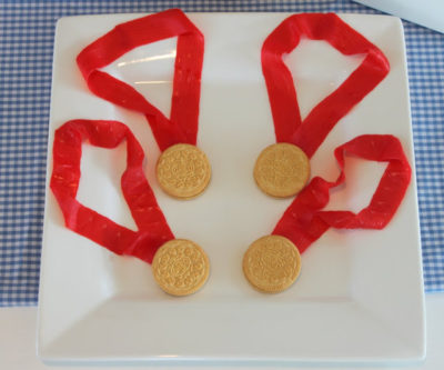 Olympic Gold Medal Dessert from Mirabelle Creations
