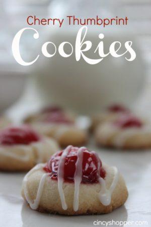 Cherry Thumbprint Cookies