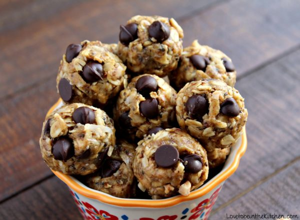 No Bake Toffee Energy Bites