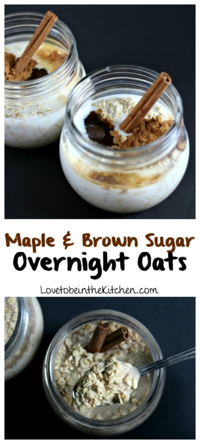 Maple Brown Sugar Overnight Oats