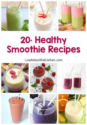 20+ Healthy Smoothie Recipes