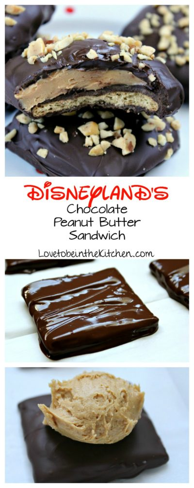 Disneyland's Chocolate Peanut Butter Sandwich