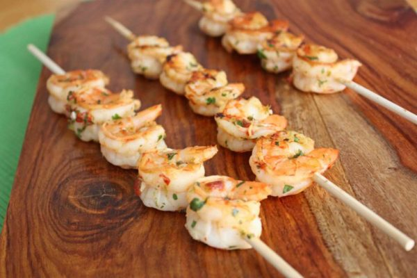 Chipotle Lime Shrimp Skewers (GF, DF) from One Lovely Life
