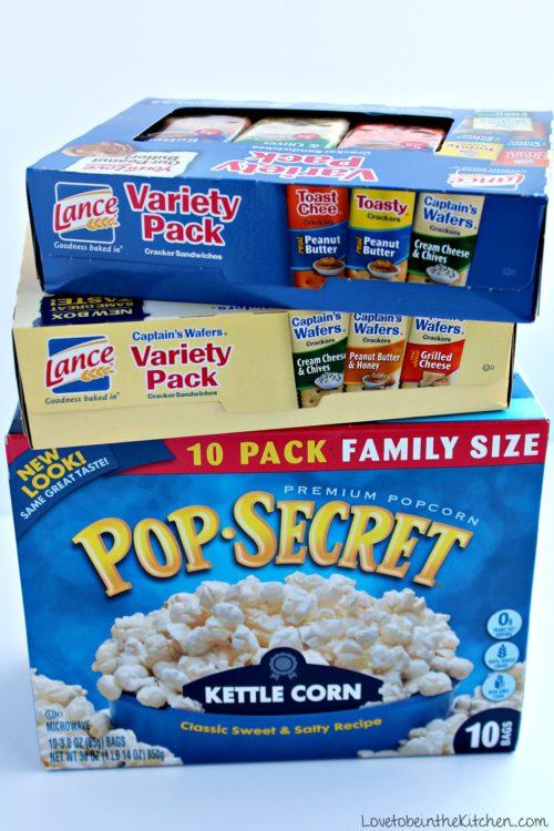 Pop Secret and Lance Crackers