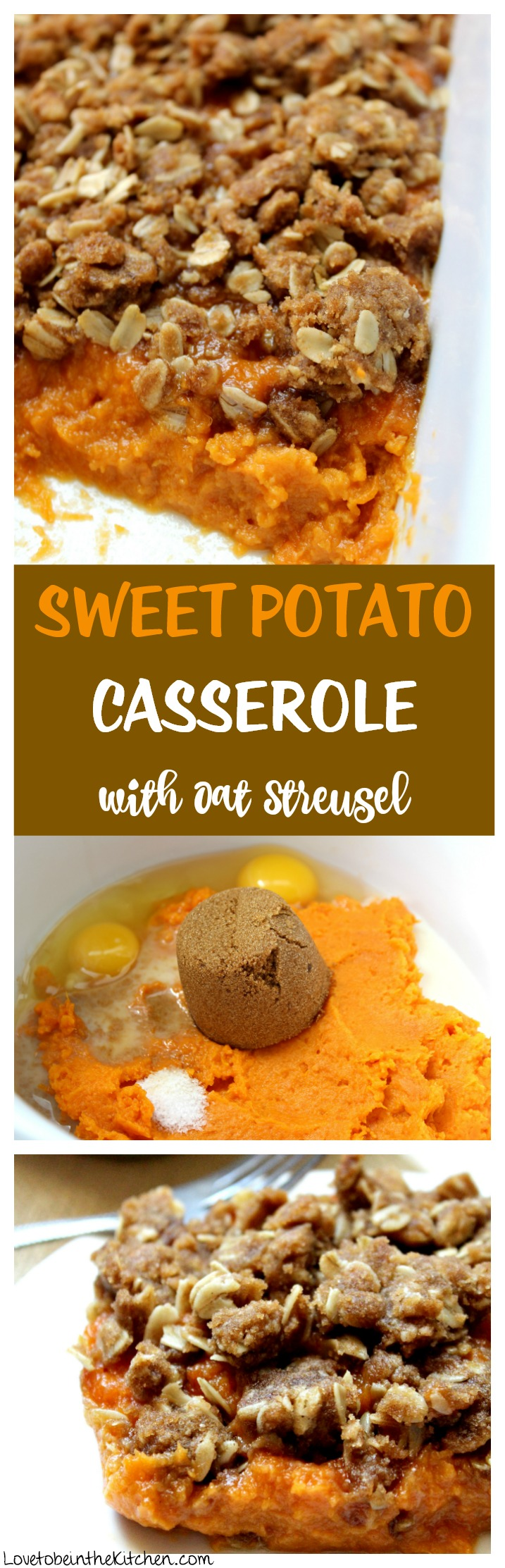Sweet Potato Casserole with Oat Streusel