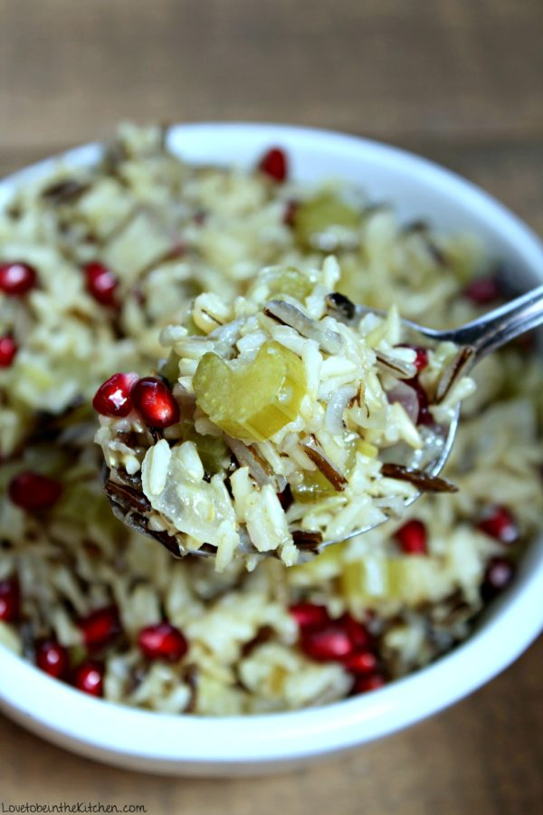 Wild Rice with Pomegranate Seeds