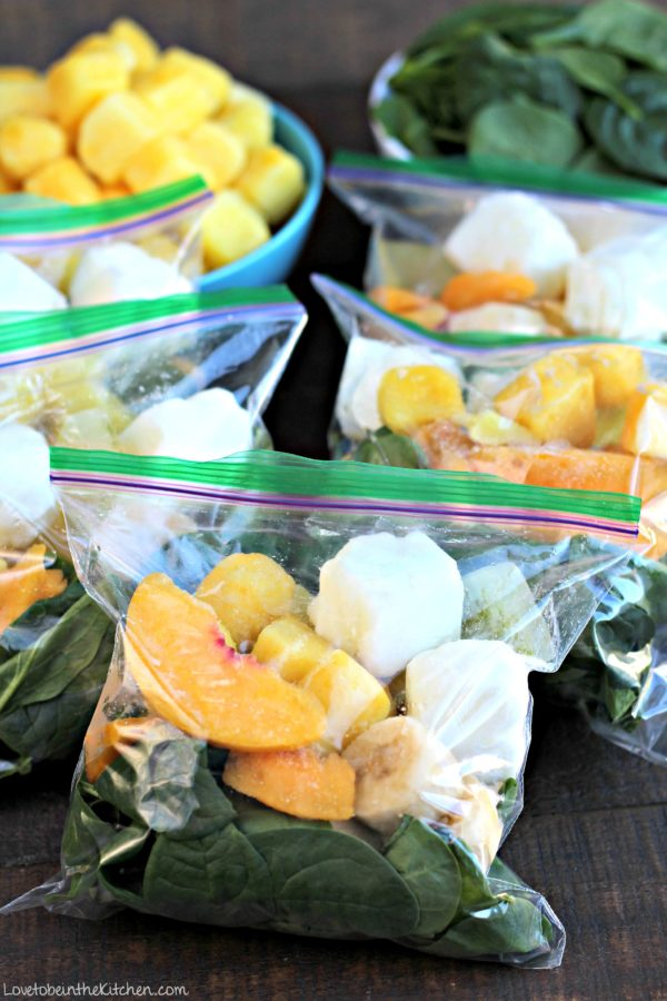Detox Green Smoothie Freezer Packs
