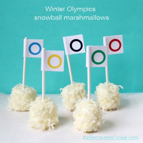 Winter Olympics Snowball Marshmallows