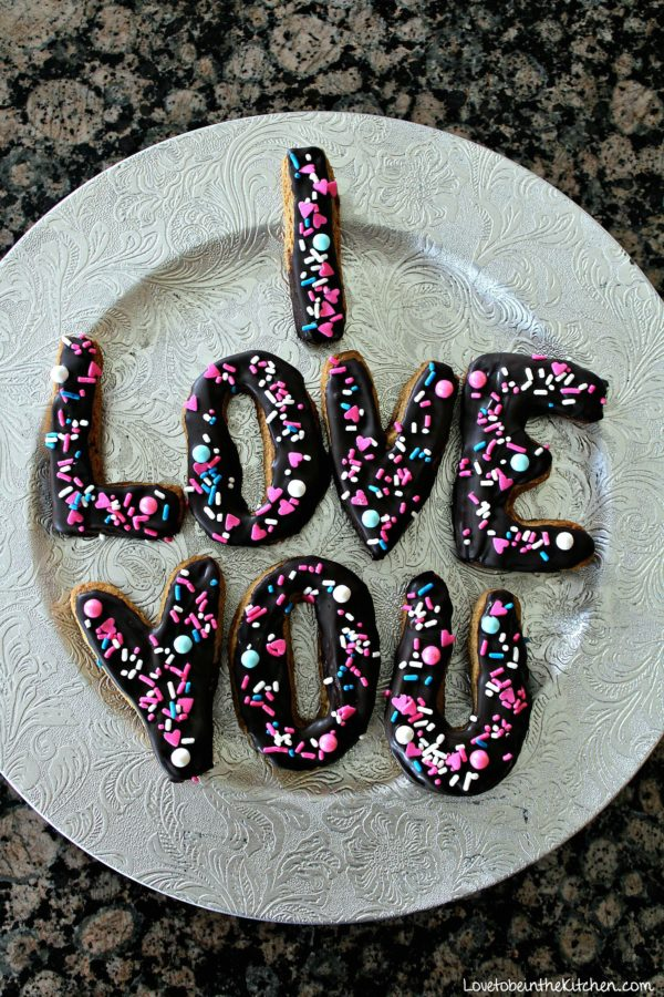 I love you cookies
