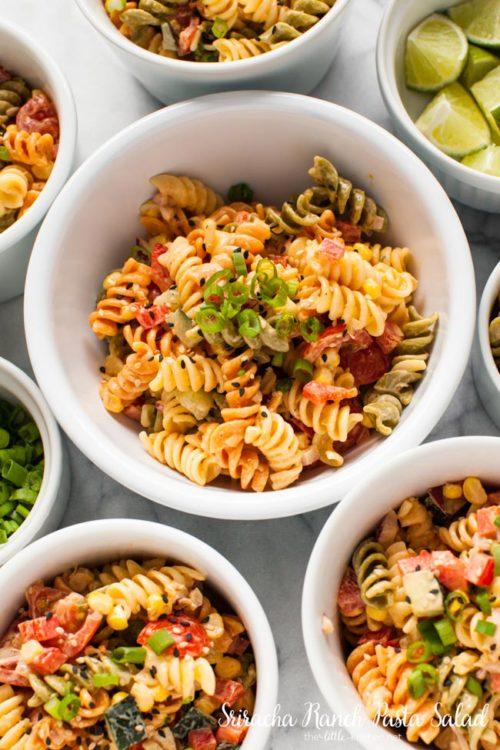 Sriracha Ranch Pasta Salad