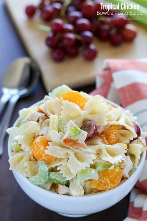 Tropical Chicken Bowtie Pasta Salad